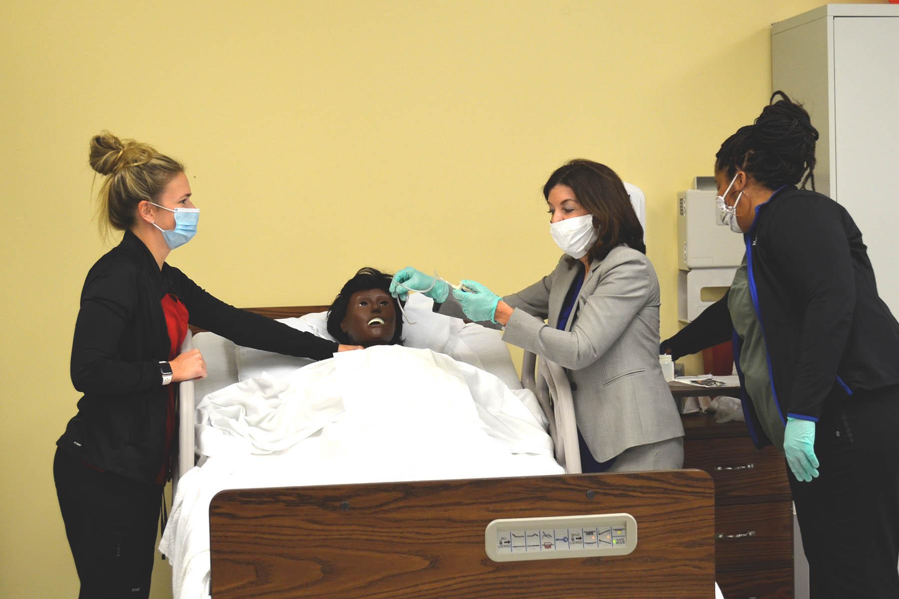 Lt. Gov. Hochul in WFD Nursing Class